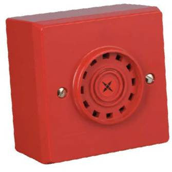 AC/R/BB/3 Fulleon Askari Compact Flush Mounted Red Sounder