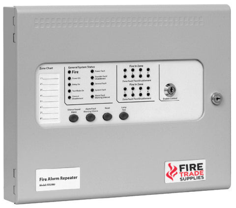 E01080L2 Kentec SIGMA CP-R Conventional Fire Alarm Panel Repeater (8 Zones) Surface Mounted