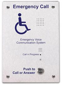 EVC302F Disabled Refuge System Outstation - Stainless Steel (Flush Mounted)