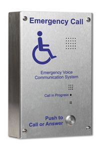 EVC302S C-Tec Handsfree Duplex EVC Disabled Refuge Stainless Steel Outstation (Surface Mounted)