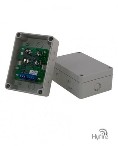 HFW-BOM-01 Wireless Single channel Powered Output Module C/W Back Box and Batteries(Requires PSU)