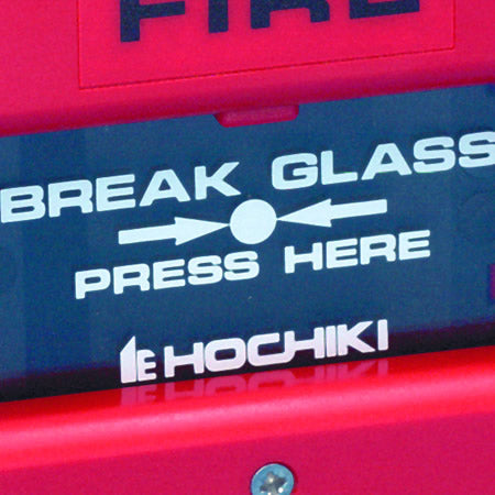 KAC/G/HE Glass Element for Call Point - with Hochiki Logo