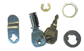HAES LOCK801BC Lock & Key Assembly for XL & Fusion Panel (Std Cabinet Size)