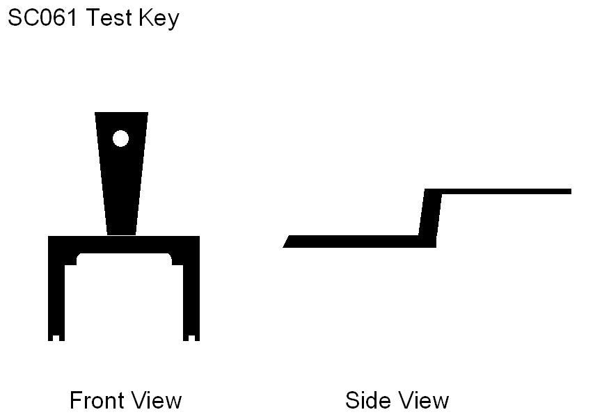 SC061 KAC Test Key (Resettable Call Point) KAC (Pack 10)