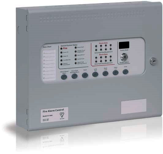 T11020M2 Kentec SIGMA CP 2 Zone/Two Wire Fire Alarm Panel  Surface Mount