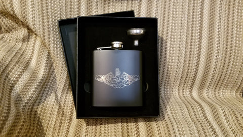 Flask Gift Set - 6 oz - Personalized - Military Flasks - Hero Flask