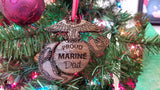 Marine Corps EGA Ornaments and Dog Tag Ornaments