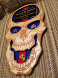 Military Skull Plaque - Personalized Skull Plaque - Larry's Woodworkin'