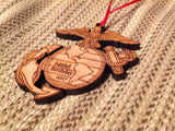 2017 Marine Corps Birthday EGA Christmas Ornament - 242nd USMC Birthday Ornament - Larry's Woodworkin'