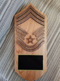Air Force Rank Plaque - Military Rank Plaque - USAF Rank Plaque - Personalized Rank Plaque