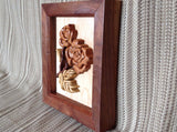 Wooden Rose Flower Intarsia - Larry's Woodworkin'