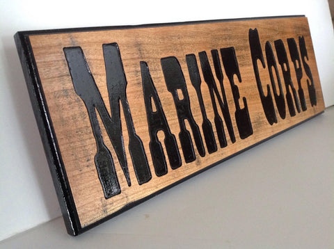 Marine Corps Wooden Sign - Larry's Woodworkin'