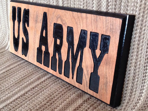 US ARMY wooden sign - Larry's Woodworkin'