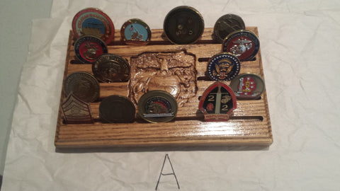 Marine Corps Challenge Coin Display - Larry's Woodworkin'