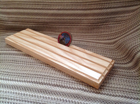 3 Row Challenge Coin Holder - Ash Wood - Larry's Woodworkin'