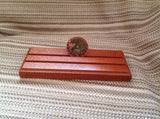 2 Row Sapele Military Challange Coin Display - Larry's Woodworkin'