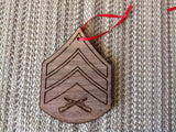 Marine Corps Rank Christmas Ornaments - Larry's Woodworkin' - 3