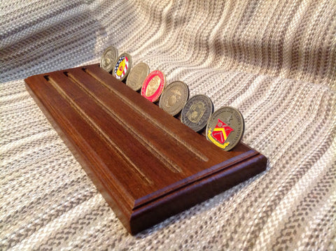 4 Row Military Challenge Coin Display - Larry's Woodworkin'
