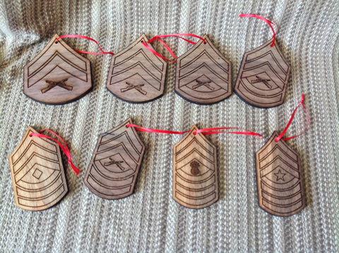 Marine Corps Rank Christmas Ornaments - Larry's Woodworkin' - 1