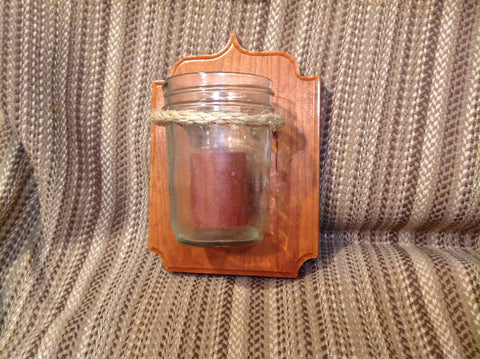 Rustic Jar Candle Holder - Larry's Woodworkin'