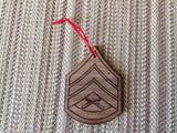 Marine Corps Rank Christmas Ornaments - Larry's Woodworkin' - 4