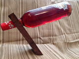 Rustic Floating Wine Bottle Holder / Balancing Wine Bottle Holder - Larry's Woodworkin'