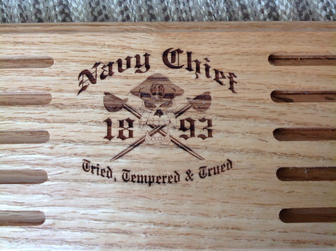 Navy Chief Coin Display - Larry's Woodworkin' - 1