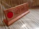 Military Desk Nameplate (12 inch) - Larry's Woodworkin' - 2