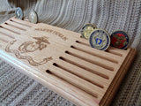 USMC Flag Challenge Coin Display - Larry's Woodworkin'