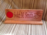 Military Desk Nameplate (12 inch) - Larry's Woodworkin' - 1