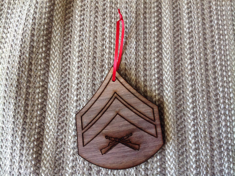 Marine Corps Rank Christmas Ornaments - Larry's Woodworkin' - 2