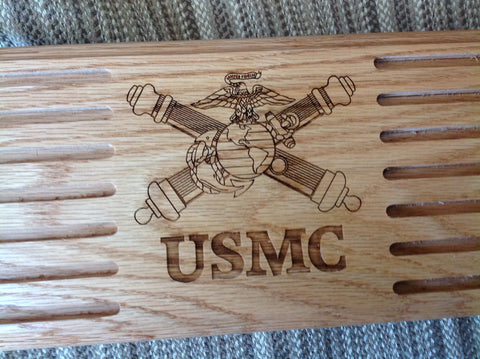 USMC Artillery Challenge Coin Display - Larry's Woodworkin' - 1