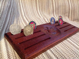 Marine Corps Eagle, Globe and Anchor (EGA) Challenge Coin Display - Dish Style - Larry's Woodworkin'