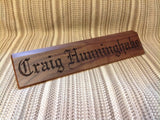 "12"" Personalized Military Desk Nameplate with Rank Insignia and Rate Pad - Larry's Woodworkin'"