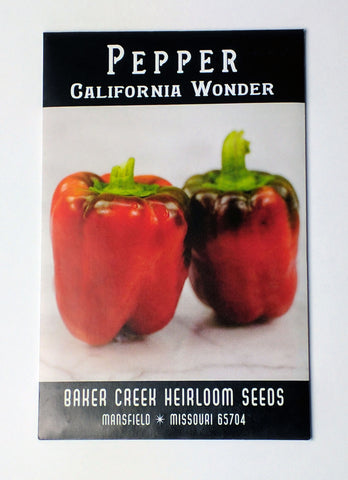 california wonder pepper seed