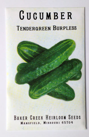 Tendergreen Burpless Cucumber Seed, 25ct