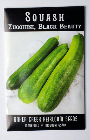 Black Beauty Zucchini Seed, 75ct