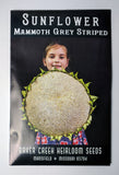 Mammoth Grey striped Sunflower Seed, 25ct
