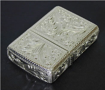 Zippo Lighter Silver King 5 sides hand carving 15 SLV 1 Sterling silver Regular Type