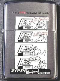 Zippo Lighter In 1996 1945 Post Comic A