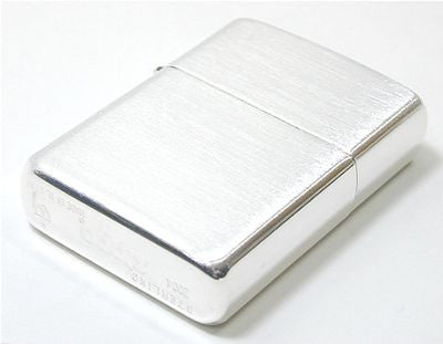 Zippo Lighter Sterling Silver Armor Type No27 Matte Sateen Finish