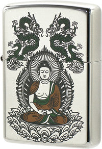 Zippo Lighter Buddha Incoming Platinum Plating PT
