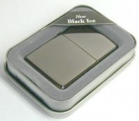 Zippo Lighter 150 BLACK ICE Black Mirror Finish