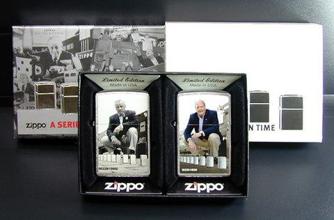 Zippo Lighter A SERIES IN TIME #28546 two-piece set