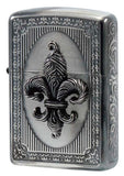 Zippo Lighter Armor French Antique Metal Antique Silver & Black Nickel FAM-B