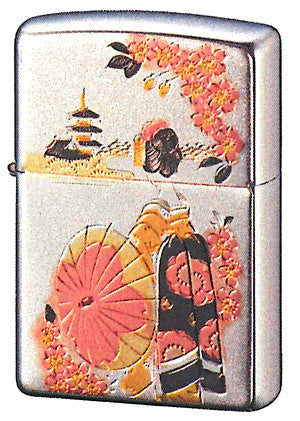 Zippo Lighter Japanese-style Electrotypes Apprentice-geisha MAIKO PG