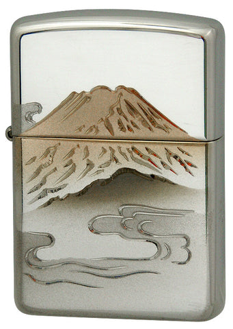 Zippo Lighter Armor Sterling silver Hand carving 26 AKA-FUJI