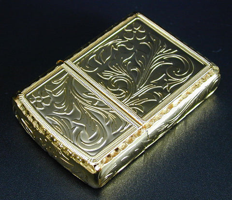 Zippo Lighter Armor KING Five side Arabesque GD Gold - coating