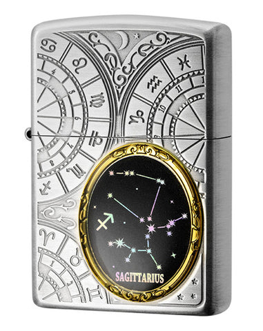Zippo Lighter 12 Constellation Metal Sagittarius