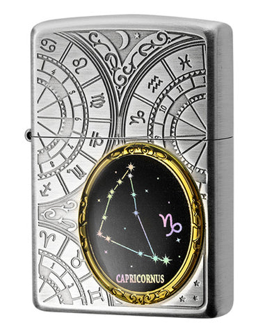 Zippo Lighter 12 Constellation Metal Capricorns